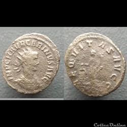 monnaie antique romaine carinus rome aequitas