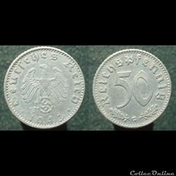 50 Reichspfennig, 1943