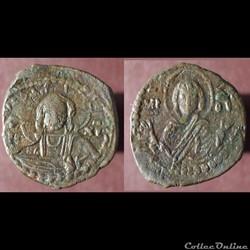 Follis anonyme au Christ et à la Vierge (Romain IV) classe G