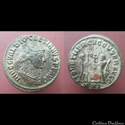 monnaie antique romaine diocletien antoninien antioche iov et hercv