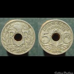 IIIè République, 5 centimes, 1920