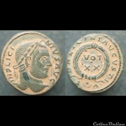 Licinius nummus Arles VOT XX