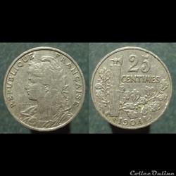 IIIè République, 25 centimes, 1904