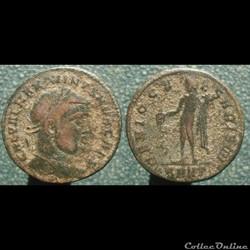 Maximin II nummus Héraclée Genio Caesari...