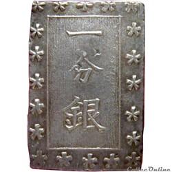 JAPON 1 Bu ou Ichibu d'argent 1859-1868 ...
