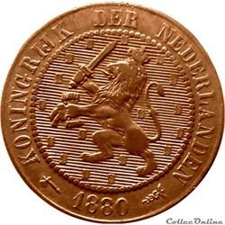 PAYS-BAS 2 1/2 Cents lion couronné 1880 ...