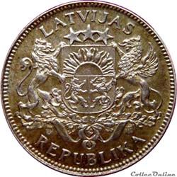 LETTONIE 1 Lats emblème 1924 KM.20/7