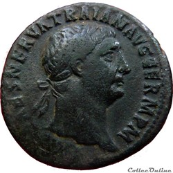 As Trajan - Victoria TR POT - COS III P P (Rome) RIC#417