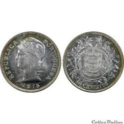 PORTUGAL 10 Centavos 1915 Gom.07.01