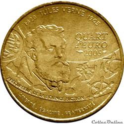 FRANCE 1/4 Euro JULES VERNE - LE MONDE F...