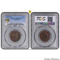 SARAWAK 1 Cent Sarawak Rajah C.V. Brooke...
