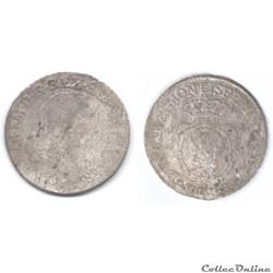 DUCHÉ DE SAVOIE - CHARLES-EMMANUEL III 7 sols de demi (soldi 7.6) 1758