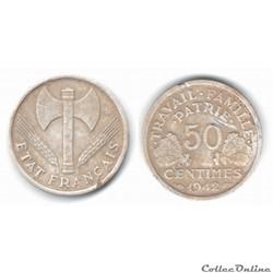 50 centimes 1942 Bazor