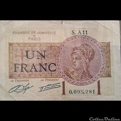 Chambre de commerc de Paris- un Francs-1...