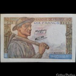 Dix Francs 25-3-1943