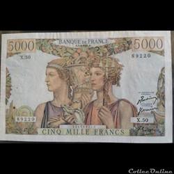 Cinq Mille Francs 5-4-1951