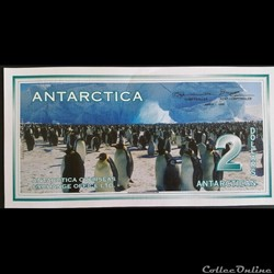 2 dollars Antarctica 1996