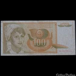 100 Dinara 1990