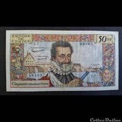 50 Nouveau Francs Henry IV 1959