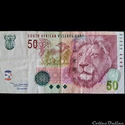 50 Rands ÉMISSIONS DE 2005