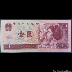 Chine 1 Yuan 1996