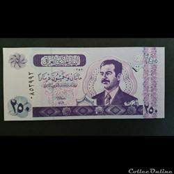 250 Dinars Irakien 2002