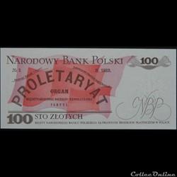 billet pologne afrique du sud 100 zlotych 1988