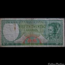 25 Gulden Surinam 1963