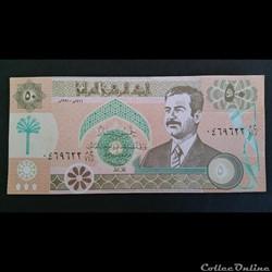 50 Dinars Irakien 1991