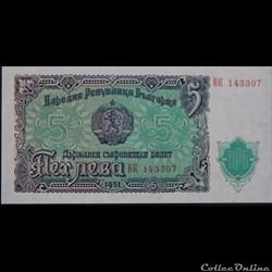 5 LEVA DE 1951