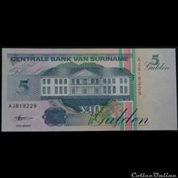 5 Gulden Surinam 1998