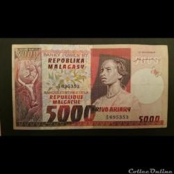 5000 Ariary 1974