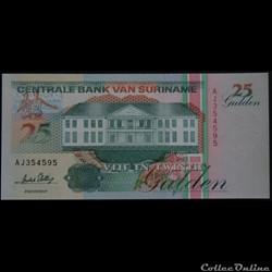 25 Gulden Surinam 1996