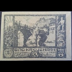 Bad Kreuznach 50 Pf 1917/1918