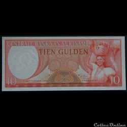10 Gulden Surinam 1963