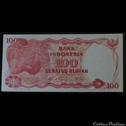 100 Roupies Indonésie 1984