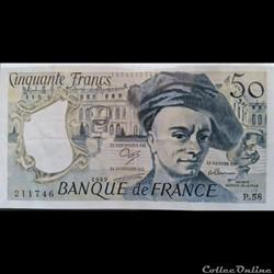 Cinquante Francs 1989  -P.58