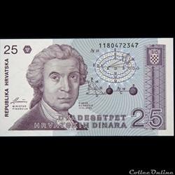 25 DINARS DE 1991