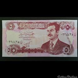 5 Dinars Irakien 1992