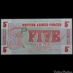5 Pence British Armed Forces 6émé seri