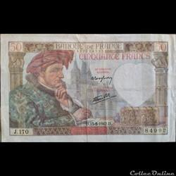 Cinquante Francs 15-5-1942