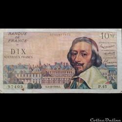 Dix Nouveaux Francs 3-12-1959