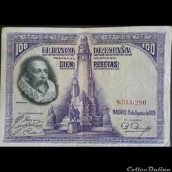 100 Pesetas 15-08-1928
