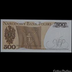 billet pologne autriche 500 zlotych 1982