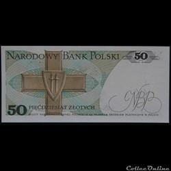 billet pologne nouvelle zelande 50 zlotych 1988