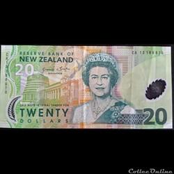 20 Dollars New Zélande