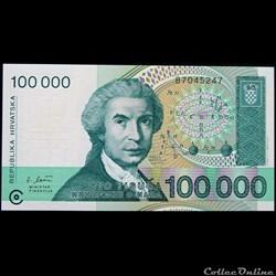 100 000 DINARS DE 1993