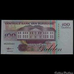 100 Gulden Surinam 1998