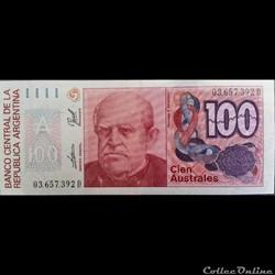 100 Australes ÉMISSIONS DE 1985 À 1991