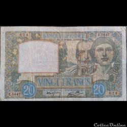 Vingt Francs 19-9-1941